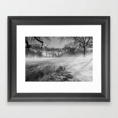 In The Blizzard Framed Art Print
