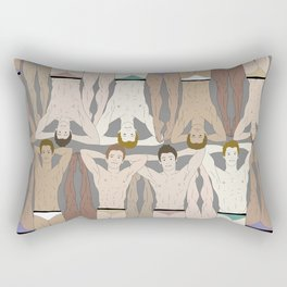 Retro Male Swimmers Rectangular Pillow