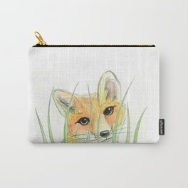 Peekaboo fox Carry-All Pouch
