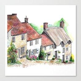 Gold Hill, Shaftesbury, Dorset, England Canvas Print