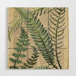 Book Art Page Botanical Leaves Wood Wall Art