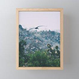 Seagull & Cacti Framed Mini Art Print