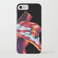 evangelion iPhone & iPod Cases featuring Evangelion EVA-02 by Etienne Chaize
