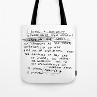 emily rickard Tote Bags featuring EMILY by When the robins came