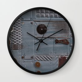Silver Steampunk Wall Clock