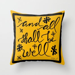 And All Shall Be Well Julian of Norwich Throw Pillow