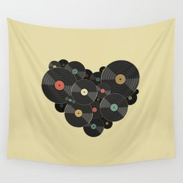 Heart of a Vinyl Lover Wall Tapestry