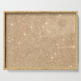 Gold Glitter Chic Glamorous Sparkles Serving Tray