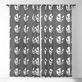 Small Animal Logo Illustration Sheer Curtain