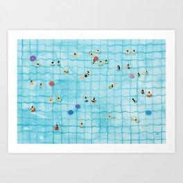 Swimming pool Art Print
