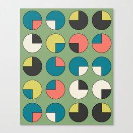 Pie Green Canvas Print