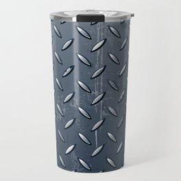 Industrial Metal Texture Abstract Travel Mug