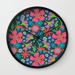 POP FLORAL Wall Clock