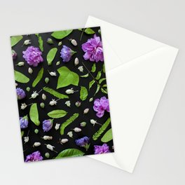 Leaves and flowers pattern (17) Stationery Cards