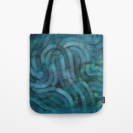 'Careful Where You Stand, In Aquamarin' Tote Bag