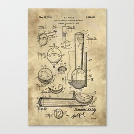 Ice Cream Scoop Blueprint Industrial Farmhouse Canvas Print
