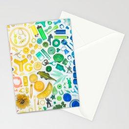Rainbow Beach Trash Collage Stationery Cards