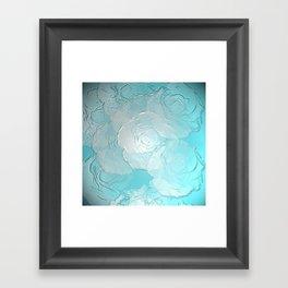 Embossed roses Framed Art Print