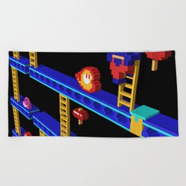 Inside Donkey Kong stage 4 Beach Towel
