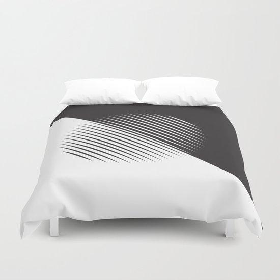 Black And White Ball Of Stripes Duvet Cover