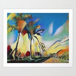 Palm Road Art Print
