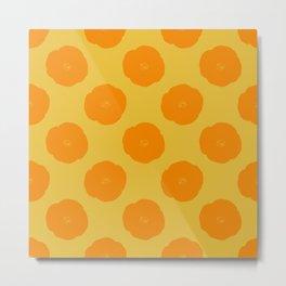Citrus Color Botanical Pattern Metal Print