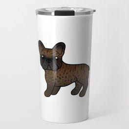 Brindle French Bulldog Dog Cute Cartoon Illustration Travel Mug