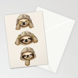 No Evil Sloth Stationery Cards