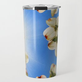Sunlit Dogwood Blooms Travel Mug
