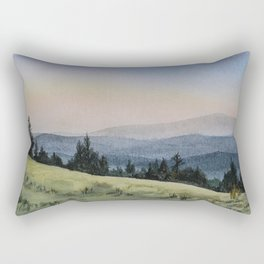 Early Morning in the Mountains Rectangular Pillow