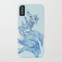 kitsune iPhone & iPod Cases featuring Ice Kitsune by KristenOKeefeArt