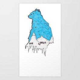 Snow Bear Art Print