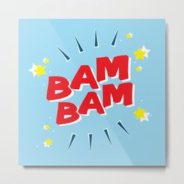 Bam Bam Red Metal Print