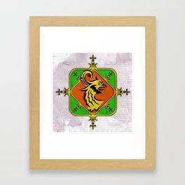 Golden Griffin Framed Art Print