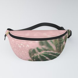 Cactus on Pink Sparkles Fanny Pack