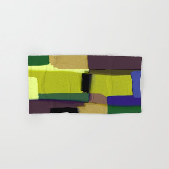 Simply Abstract X - Abstract, oil painting, pastel colours Hand & Bath Towel