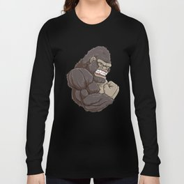 Gorilla At The Gym | Fitness Training Muscles Long Sleeve T-shirt