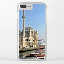 Mosque and Bridge, Istanbul Turkey Clear iPhone Case