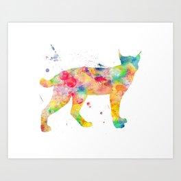 Bobcat Watercolor Painting Art Print