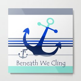 Beneath We Cling: White Metal Print