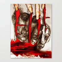 zombies Canvas Prints featuring Zombies by Rafael Salazar