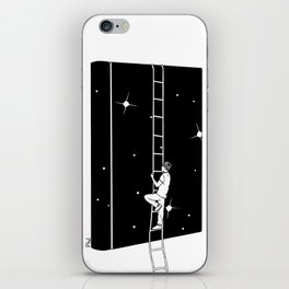 A book is an uphill dream iPhone Skin