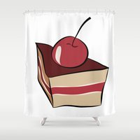 cake Shower Curtains featuring cake by Irina  Romanovsky