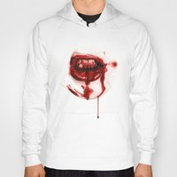 mouth Hoodies featuring Bloody Mouth by Sam Luotonen