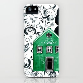 Scandinavian village iPhone Case