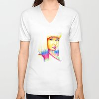 nicki V-neck T-shirts featuring Nicki by Jaimie