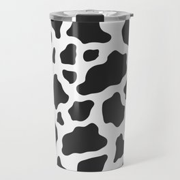 Black and White Cow Print Travel Mug