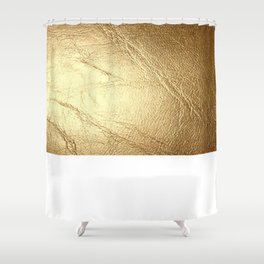 GolD & wHiTe Shower Curtain