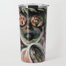 wild one mixed media, collage, vintage photography, bold, bright, beautiful Travel Mug