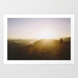 Angels National Forest, sunset no.4 Art Print